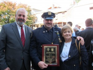 CB14 Chairman Alvin M. Berk, Det. Dominick Scotto, and CB14 District Manager Doris Ortiz
